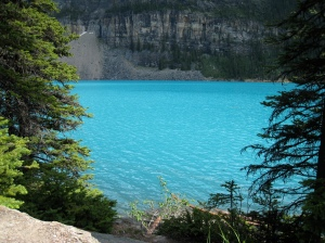 Beautiful Turquoise Moraine Lake in Canada's Banff Nat'l Park